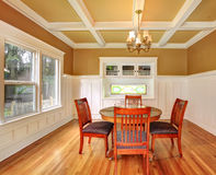 Dining room in an old house Stock Photo