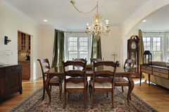 Dining room with pantry view Stock Image