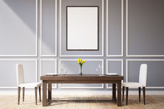 Dining room with a picture Royalty Free Stock Photos
