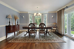 Dining room with picture window Royalty Free Stock Photography