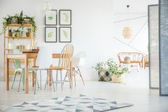 Dining room with plants Stock Photo