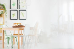 Dining room with posters Stock Images