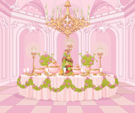 Dining Room in Princess Palace Stock Images