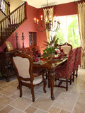 Dining Room Red Elegant Royalty Free Stock Photo