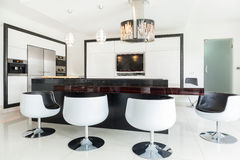 Dining room in residence Stock Photos
