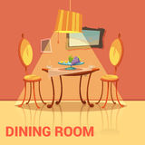 Dining Room Retro Design Stock Image