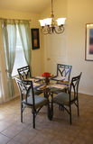 Dining room. A small but nice dining room in the house Royalty Free Stock Photo