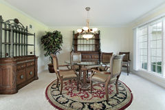 Dining room in suburban home Royalty Free Stock Photos