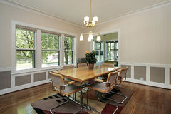 Dining room in suburban home Stock Photo