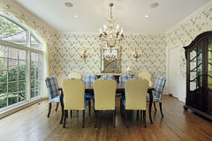 Dining room in suburban home Stock Photos