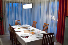 Dining room table Royalty Free Stock Images