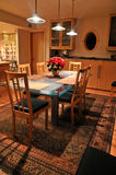 Dining room table Stock Photography