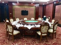 Dining room Table in China stock photo