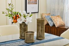 Free Dining Room Table Glass Vase,Home Decorative Household Object Royalty Free Stock Images - 110536359