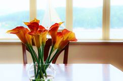 Dining room table Royalty Free Stock Photography