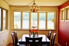 Dining room table Stock Photos