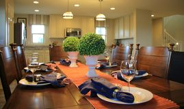 Dining Room Table Setting Stock Images
