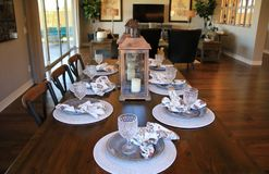 Dining Room Table Setting Royalty Free Stock Images