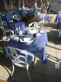 Dining room terrace Royalty Free Stock Images