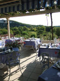 Dining room terrace Royalty Free Stock Image