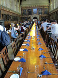 Dining room of university of oxford,england Stock Image