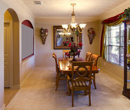 Dining Room of US Home. Dining room of an upper middle class home in the US Royalty Free Stock Photo