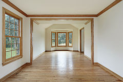 Dining room with wood walls Stock Image