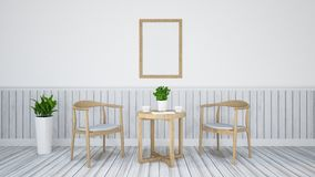 Dining set for restaurant - 3D Illustration Royalty Free Stock Images