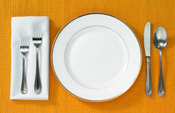 Dining setting Royalty Free Stock Image