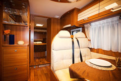 Dining Space in Modern Motorhome. A Dining Space in Modern Motorhome Stock Images