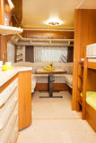 Dining Space in Modern Motorhome. A Dining Space in Modern Motorhome Royalty Free Stock Photography