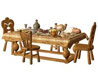 Dining table 1 Royalty Free Stock Photography