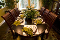 Dining table 1604 Stock Photo