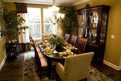 Dining table 1608 Stock Photography