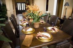 Dining table 1656 Stock Images