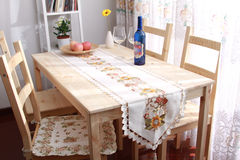 Dining table. Elegance Dining table in home Royalty Free Stock Photo