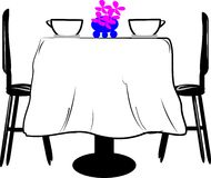 Dining table Royalty Free Stock Photo
