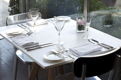 A dining table Stock Photography