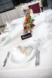 Dining table Stock Images