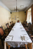 Dining table arranged in restaurant Royalty Free Stock Images