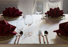 Dining table arrangement Royalty Free Stock Image