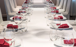 Dining table arrangement Royalty Free Stock Photos