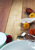 Dining table background Stock Image