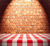 Dining Table on Brick Wall Royalty Free Stock Photos