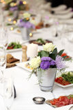 Dining table at a celebration Stock Image