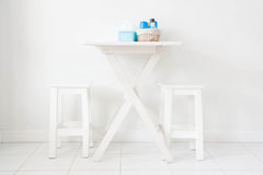 Dining table and chair Stock Photography