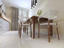 Dining table and chairs modern style Royalty Free Stock Images