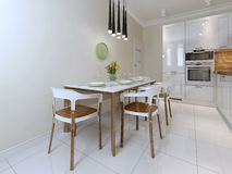 Dining table and chairs modern style Stock Photography