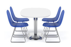 Dining table and chairs Stock Image