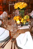 Dining table decorated Royalty Free Stock Images